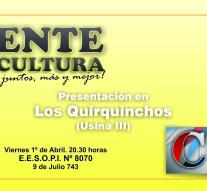 En Los Quirquinchos se presenta el Ente Cultural Santafesino