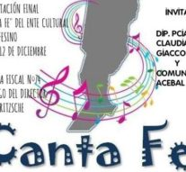 """""""CANTA  FE"""" tendrá su segunda presentación en Acebal"""