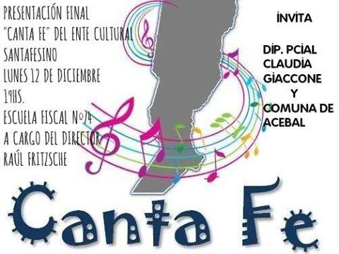«CANTA  FE» tendrá su segunda presentación en Acebal