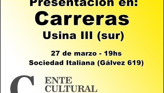 El «Plan 2017» del Ente Cultural Santafesino se presentará en Carreras