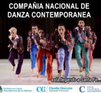 """La """"Compañía Nacional de Danza Contemporánea"""" llega al interior santafesino"""