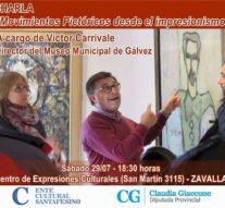 """El Prof. Victor Carrivale llega a Zavalla en el marco del programa """"Forma y Color"""""""
