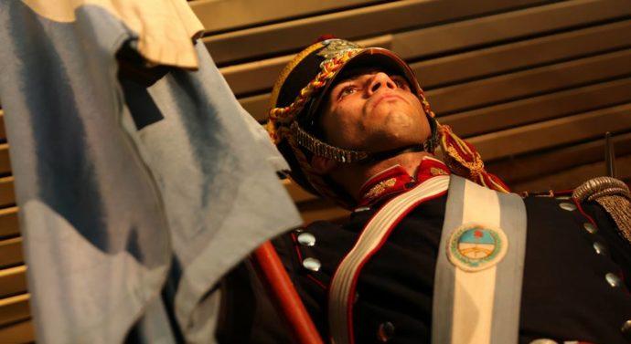 """Escribiendo la historia: la Fanfarria Militar """"Alto Perú"""" por primera vez en Arroyo Seco"""