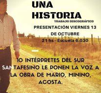 """Este viernes 13 de octubre se presenta """"Una canción, una Historia"""" en Wheelwright"""