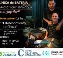 El baterista de Jorge Rojas brindará una clínica gratuita en Venado Tuerto