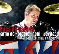 El baterista de Jorge Rojas brindará una nueva clínica en Arroyo Seco
