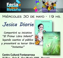 La poetisa alvarense Jesica Diorie presenta su obra en la Feria del Libro de Rosario