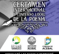 "Acebal:  Convocatoria al ""37º Certamen Internacional de la Poesía."""