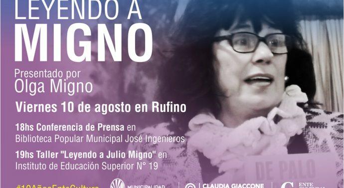"""Olga Migno presenta """"De Palo a Pique"""" en la ciudad de Rufino"""