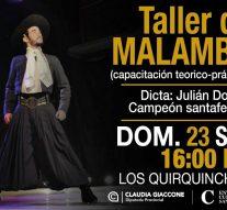 El Campeón Provincial de Malambo, Julian Dorthe llega a Los Quirquinchos