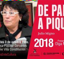 La obra de Julio Migno llega a la XVIII Feria del Libro y Encuentro Cultural de Empalme