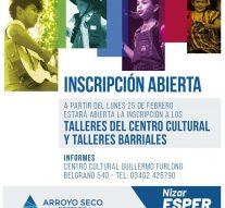 Inscripción a Cursos y Talleres en Arroyo Seco
