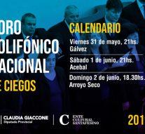 El Coro Polifónico Nacional de Ciegos llega a Gálvez, Acebal y Arroyo Seco.