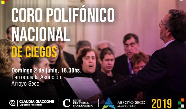 El Coro Polifónico Nacional de Ciegos llega a Arroyo Seco