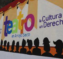 Arroyo Seco: Se finalizó el Mural del «1° Festival de Teatro»