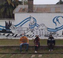 Acebal plasmó un significativo mural de María Saá Pereyra