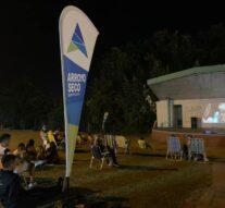 Continúa el «Cine a la reposera» en Arroyo Seco