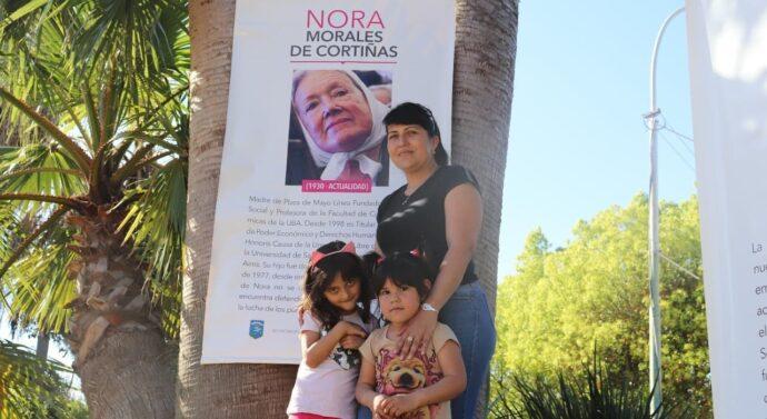 «Ellas y la lucha…» se expuso en la Plaza de Fighiera