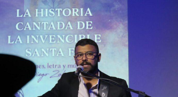 Se presentó la «Historia Cantada de la Invencible Santa Fe» en Rosario