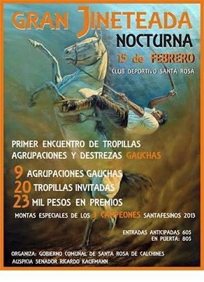 Santa Rosa de Calchines: Gran Jineteada Nocturna