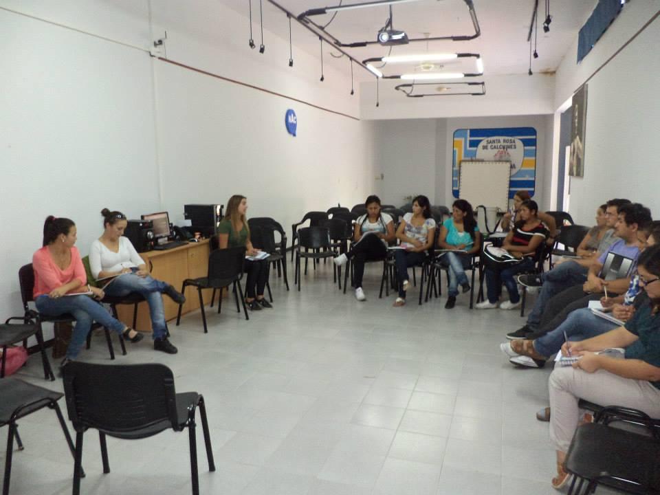 Curso de Periodismo en el NAC de Santa Rosa de Calchines.