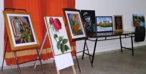 Artistas Plásticos de la Usina IV exponen en Santa Rosa de Calchines