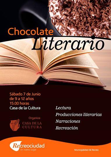 Recreo: Chocolate Literario en Casa de la Cultura