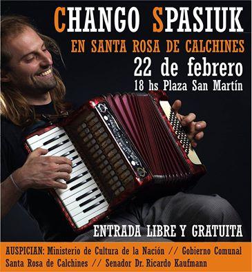 El Chango Spasiuk llega a Santa Rosa de Calchines