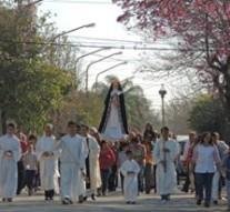 Santa Rosa de Calchines homenajeo a su Patrona
