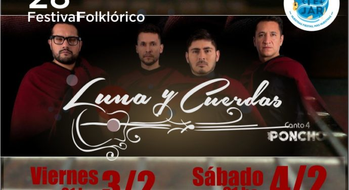 """Recreo palpita la 28º edición del Festival Folklórico """"Luna y Cuerdas"""""""