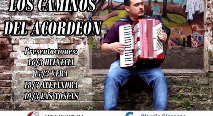 """""""Los Caminos del Acordeón"""" se presenta este jueves 16 en Helvecia"""