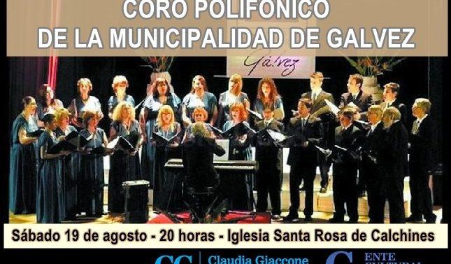 """""""Compartiendo Cultura"""": El Coro Municipal de Gálvez llega a Santa Rosa y a Helvecia"""