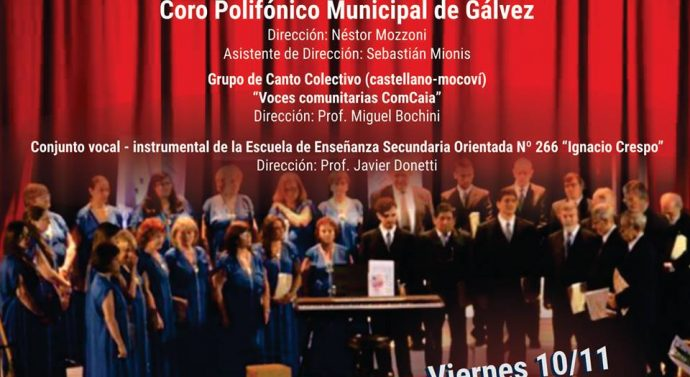 Compartiendo Cultura en Recreo junto al Coro Polifónico Municipal de Gálvez