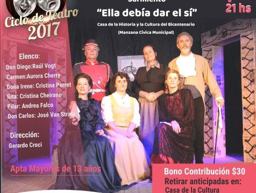 """""""Compartiendo Cultura"""": La obra """"Ella debía dar el sí"""" de Sarmiento llega a Recreo"""