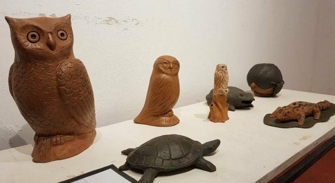 """En Coronda se inauguró la Muestra """"Arte Aborigen"""" de Nestor Lanche"""