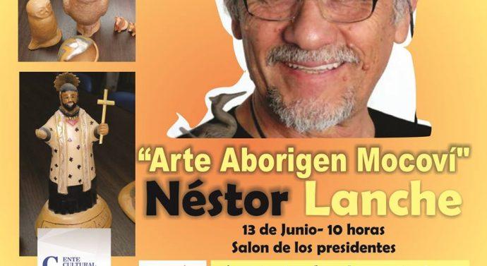 Llega a Santa Rosa de Calchines la Muestra de Artesania Mocoví de Néstor Lanche