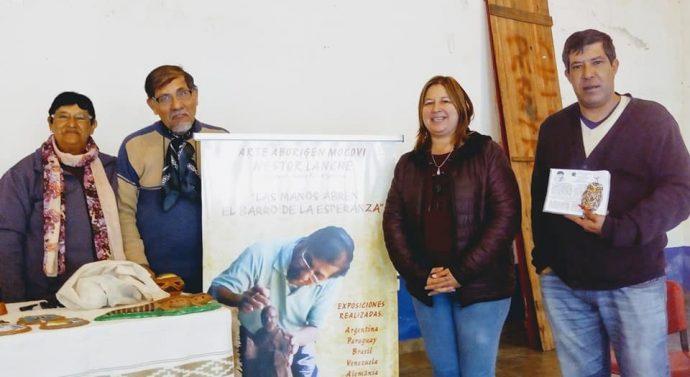 """Néstor Lanche brindó su """"Taller de Alfarería Mocoví"""" en Santa Rosa de Calchines"""