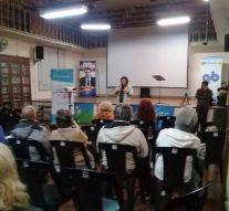 "Hugo Paccioretti expuso en la 2° Muestra itinerante del ""Festival de Cine de Mar del Plata"""