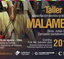 Julian Dorthe (Campeón Provincial de Malambo) dictará su Taller en Coronda