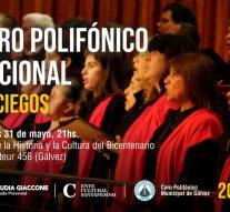Llega a Gálvez el Coro Polifónico Nacional de Ciegos