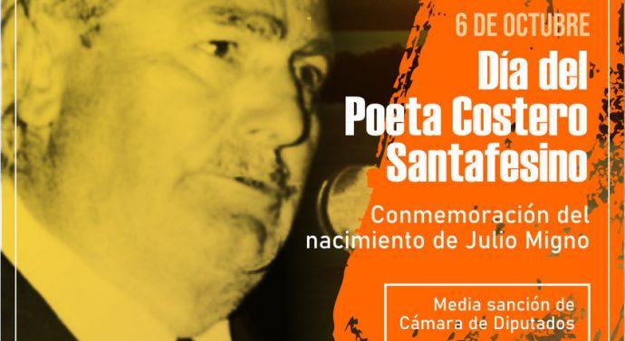 Por propuesta de Giaccone, Diputados aprobaron Efemérides para homenajear a Julio Migno y Juan Arancio.
