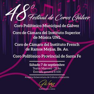 Gálvez: Llega el 48° Festival de Coros