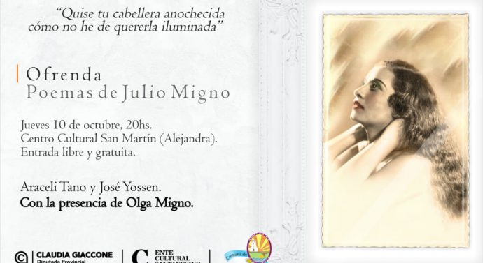 Hoy se presenta «Ofrenda» en Alejandra