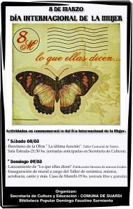 afiche dia de la mujer