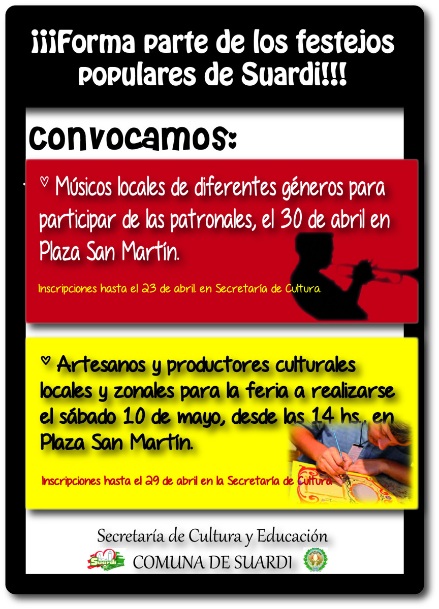 GRAN CONVOCATORIA DE MÚSICOS Y ARTESANOS