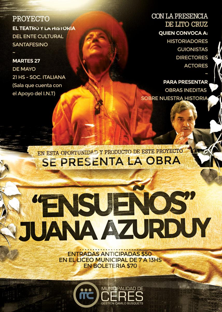 Ceres recibirá a Lito Cruz y su Proyecto «El Teatro y la Historia»