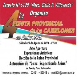 Ambrosetti: 4ta Fiesta Provincial de los Canelones