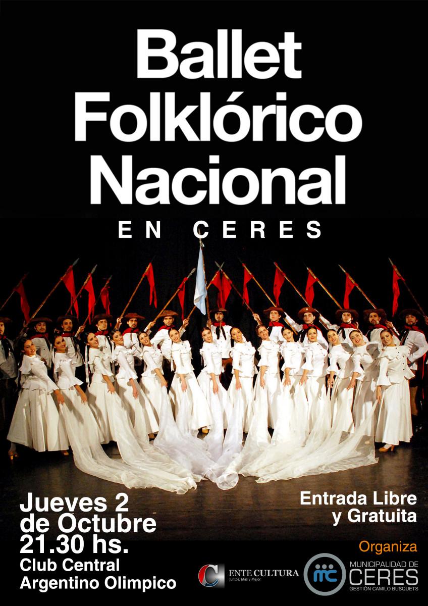 El «Ballet Folclórico Nacional» cierra su gira provincial en Ceres