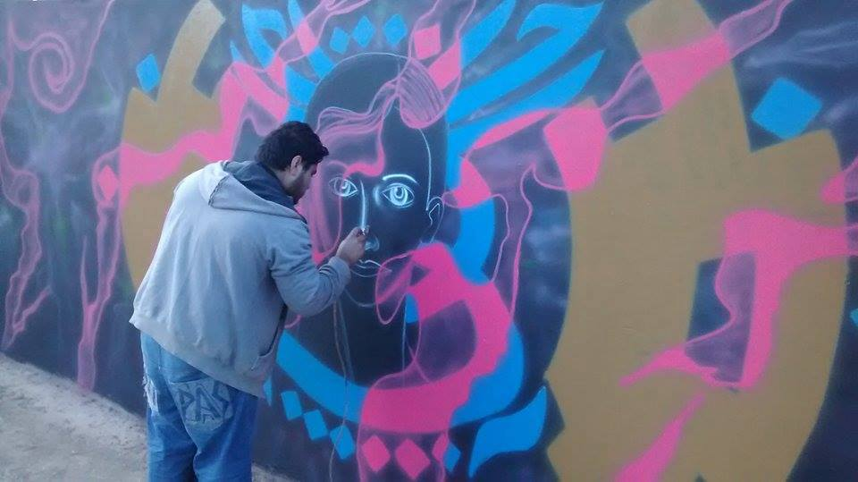 Mauricio Arce plasmó su Arte en San Guillermo