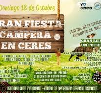 """18 de octubre """"Gran Fiesta Campera en Ceres"""""""
